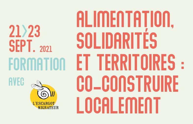 Alimentation, solidarités et territoires : co-construire localement